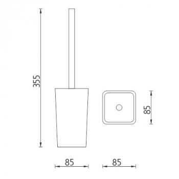 Stojánkový WC kartáč