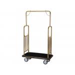 Recepční vozík LC107tt rozměry (d × š × v): 1060x560x1860 mm,provedení: zlaté,materiál: ocel. trubka ø 38 mm,kolečka: zátěžová ø 150 mm,otočná kolečka: 2