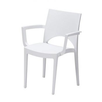 Exklusivní plastová židle JUNE s područkami