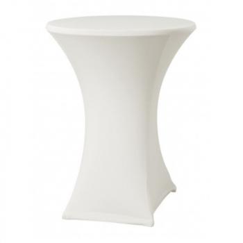 Elastický potah ELAS LITE na koktejlové stoly Ø 70 cm, bílý, 160 g/m2