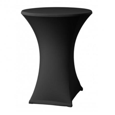 Elastický potah ELAS LITE na koktejlové stoly Ø 70 cm, černý, 160 g/m2