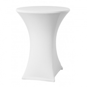 Elastický potah ONYX LITE na koktejlové stoly Ø 80 - 85 cm, bílý, 160 g/m2