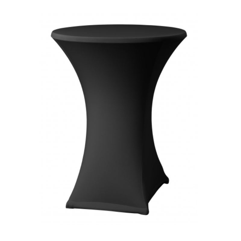 Elastický potah ONYX LITE na koktejlové stoly Ø 80 - 85 cm, černý, 160 g/m2