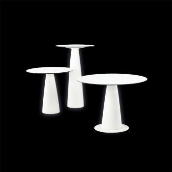 Koktejlový svítící stůl Hopla Light s kulatou deskou