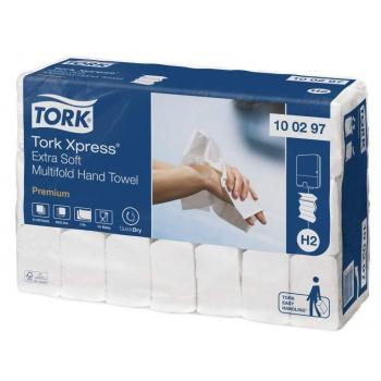 Tork Xpress® papírové ručníky 4/M 2100 ks, 21,2 x 34 cm, 21 bal., Multifold extra jemné bílé