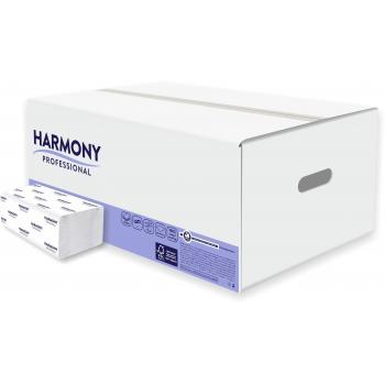 Papírové ručníky Harmony Professional ZZ, 2vr., rec,bílé 72%, 3000 ks