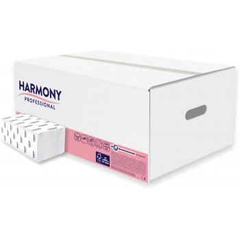 Skládané papírové ručníky Harmony Professional ZZ, 2vr. celulóza, 20x157 ks, bílé