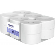 Toaletní papír Harmony Professional Mini Jumbo, 2vr., recyklát, bílý 65%, 12x117,5 m