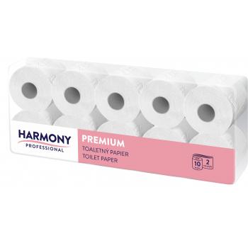 Toaletní papír Harmony Professional 2vr., celulóza, bílý 80%, 80x24 m