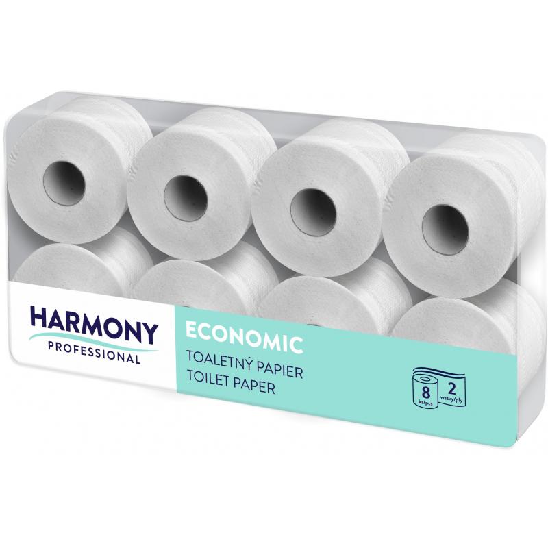 Toaletní papír Harmony Professional 2vr., přírodní recykl, bílý 50%, 64x29,5 m