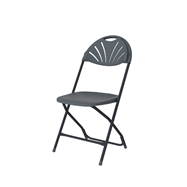 Plastová skládací židle ZOWN ALEXANDRA CHAIR - NEW - tmavě šedá