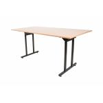 Banketový stůl T-300,160 x 80 cm je vylepšenou verzí klasického banketu. Jeho největším přínosem jsou nohy, které jsou přesunuty do středu stolu.