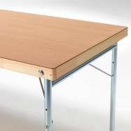 Skládací stůl Amber, 1200x700 mm, HPL buk, kovové nohy