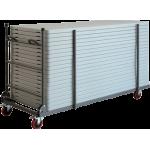 Transportní skládací vozík XLtrolley pro stoly XL120, XL150, XL180 a XL200. Rozměry: 193 x 77 x 115cm.