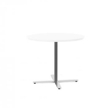 Stůl Tilo, Ø900x720 mm, chrom, bílá