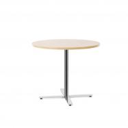 Stůl Tilo, Ø900x720 mm, chrom, bříza