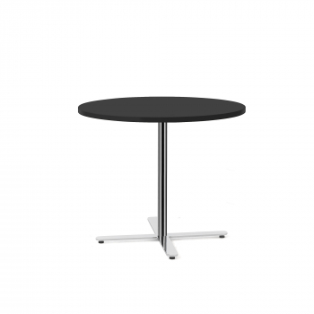 Stůl Tilo, Ø900x720 mm, chrom, černá