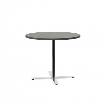 Stůl Tilo, Ø900x720 mm, chrom, tmavě šedá