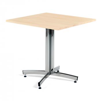 Kavárenský stolek Sally, 700x700 mm, masiv buk/chrom