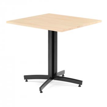 Kavárenský stolek Sally, 700x700 mm, masiv buk/černá