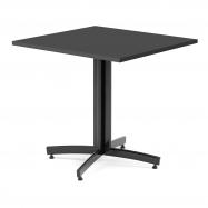Kavárenský stolek Sally, 700x700 mm, HPL, černá/černá