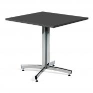 Kavárenský stolek Sally, 700x700 mm, HPL, černá/chrom