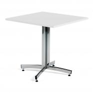 Kavárenský stolek Sally, 700x700 mm, HPL, bílá/chrom
