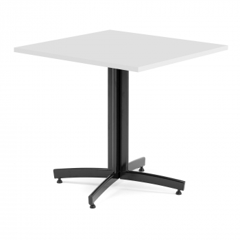 Kavárenský stolek Sally, 700x700 mm, HPL, bílá/černá