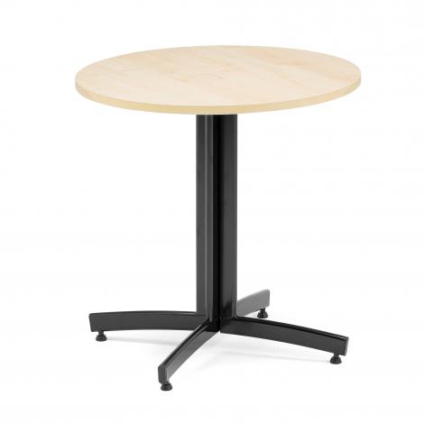 Kulatý jídelní stůl Sanna, Ø700 mm, bříza, černá