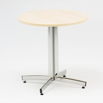 Kulatý jídelní stůl Sanna, Ø700 mm, bříza, chrom