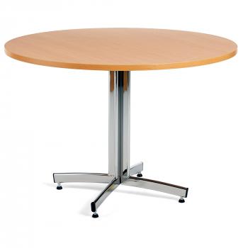 Kulatý jídelní stůl Sanna, Ø1100 mm, buk, chrom