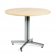 Kulatý jídelní stůl Sanna, Ø900 mm, bříza, chrom