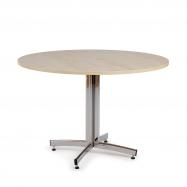 Kulatý jídelní stůl Sanna, Ø1100 mm, bříza, chrom
