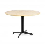 Kulatý jídelní stůl Sanna, Ø1100 mm, bříza, černá