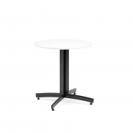 Kulatý jídelní stůl Sanna, Ø700 mm, bílá, černá