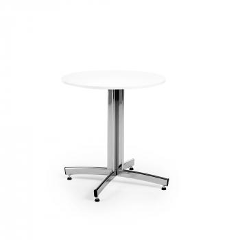 Kulatý jídelní stůl Sanna, Ø700 mm, bílá, chrom