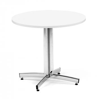 Kulatý jídelní stůl Sanna, Ø900 mm, bílá, chrom