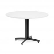 Kulatý jídelní stůl Sanna, Ø1100 mm, bílá, černá