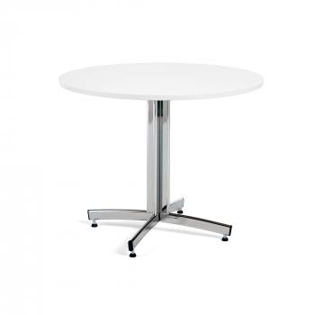Kulatý jídelní stůl Sanna, Ø1100 mm, bílá, chrom