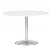 Kulatý jídelní stůl Lily, Ø1100 mm, bílá/chrom