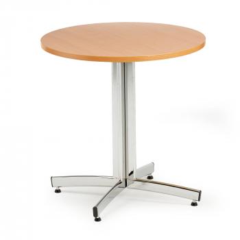 Kulatý jídelní stůl Sanna, Ø700 mm, buk, chrom