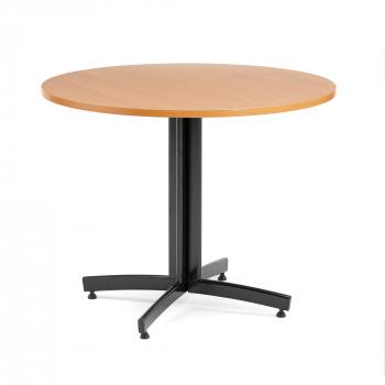 Jídelní stůl Sanna, Ø 900 x V 720 mm, buk/černá