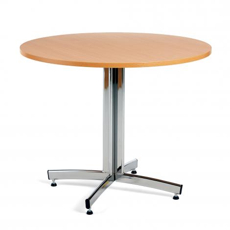 Kulatý jídelní stůl Sanna, Ø900 mm, buk, chrom