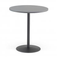 Kavárenský stolek Astrid, Ø700 mm, šedá /černá