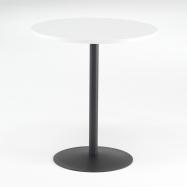 Kavárenský stolek Astrid, Ø700 mm, bílá/černá