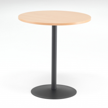 Kavárenský stolek Astrid, Ø700 mm, buk/černá