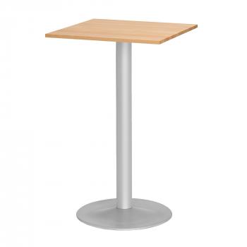 Barový stůl Siri, 700x700 mm, bukový masiv, podnož hliníkový lak