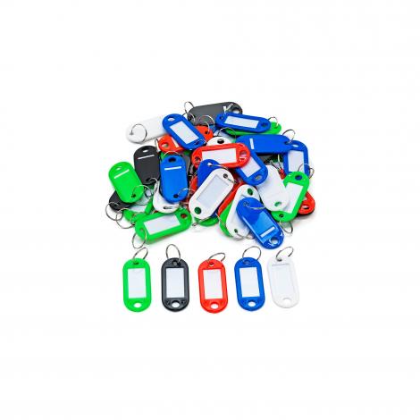 Plastové štítky na klíče, bal. 50 ks