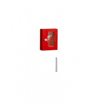 Skříňka na klíč, červená