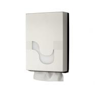Zásobník CELTEX na skládané papírové ručníky typu M, Z, V, ZZ, bílý